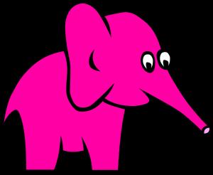 Ein pinker Elefant