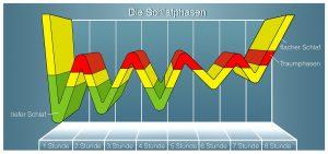Grafik der Schlafphasen